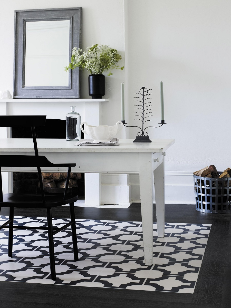 Check Mate with a Stylish Black and White Floor