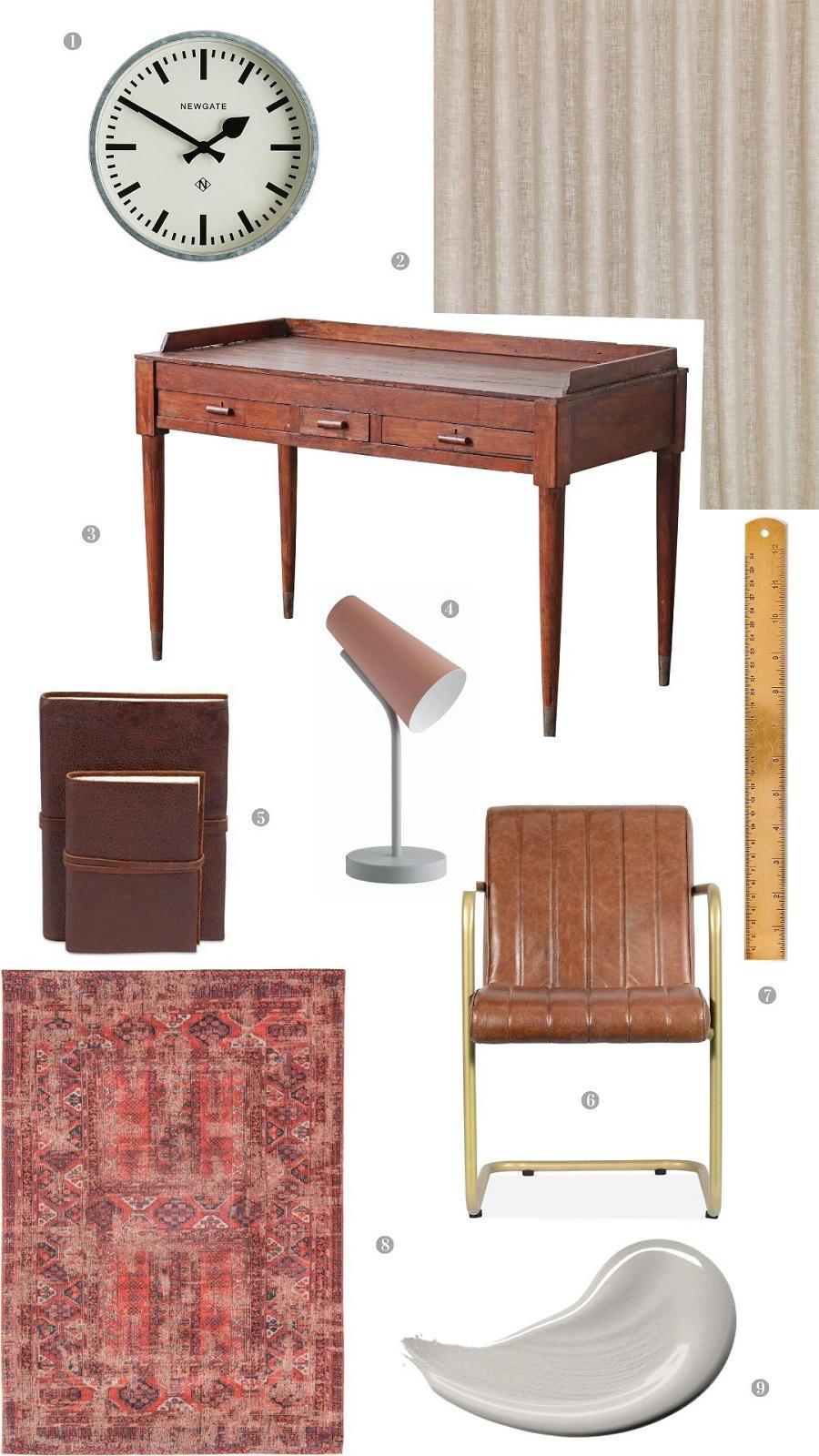 A Simple Vintage Inspired Workspace - Get The Look