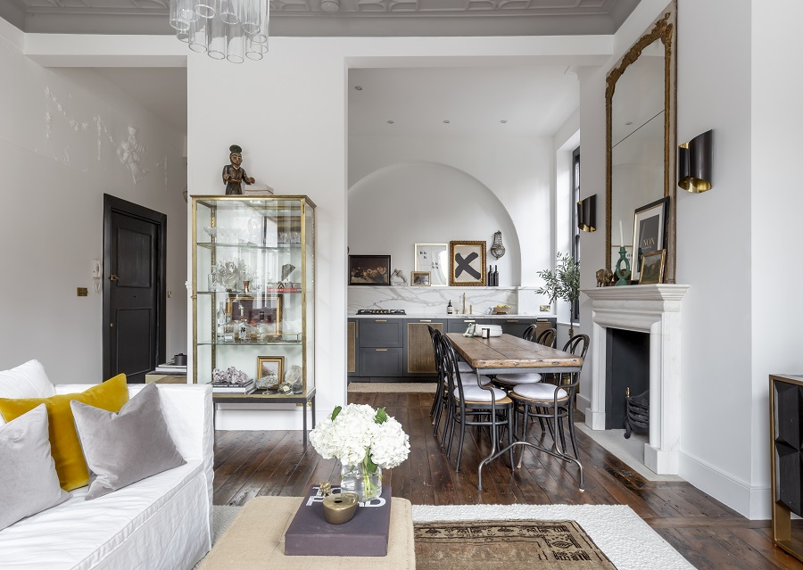 An Elegant and Eclectic Conversion in a Georgian Townhouse