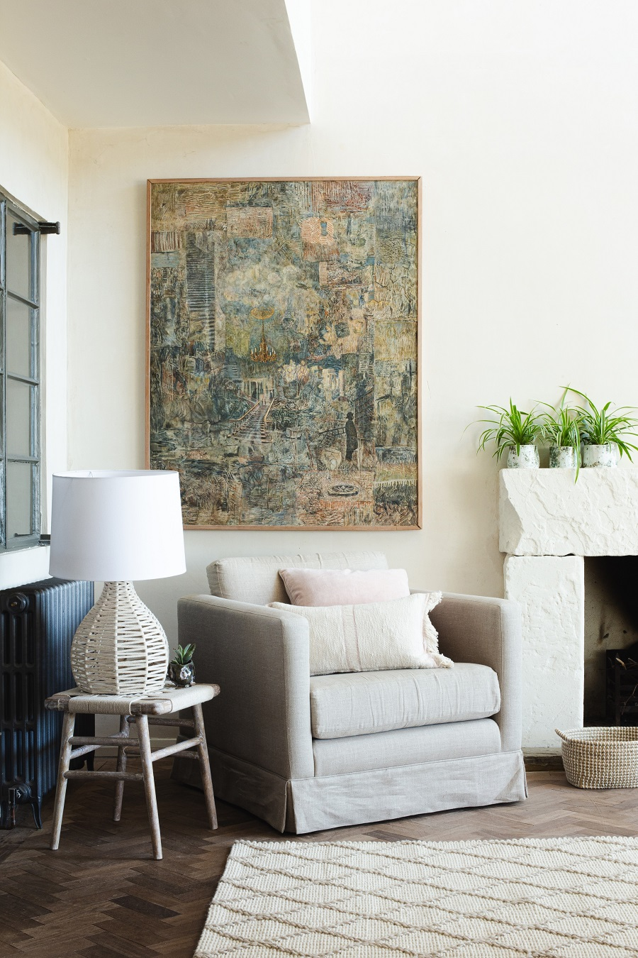 A Comfy Corner Filled With Texture and How to Get The Look