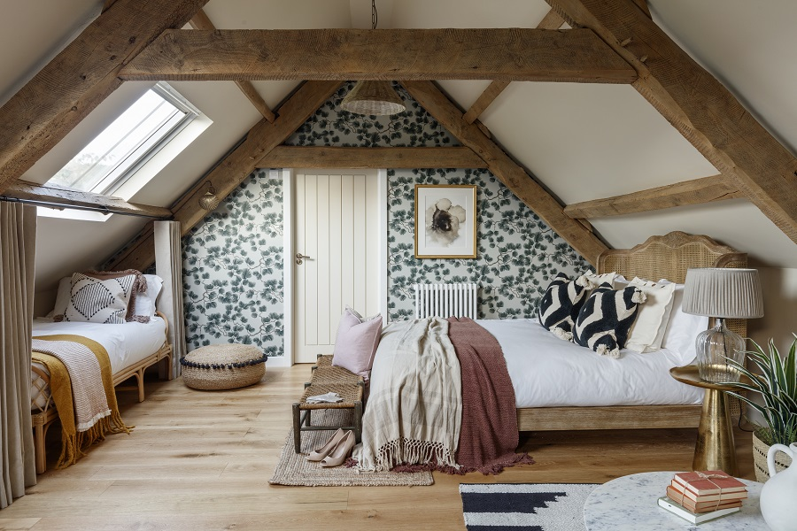 Two Listed 18th Century Barns Get The Luxe Look