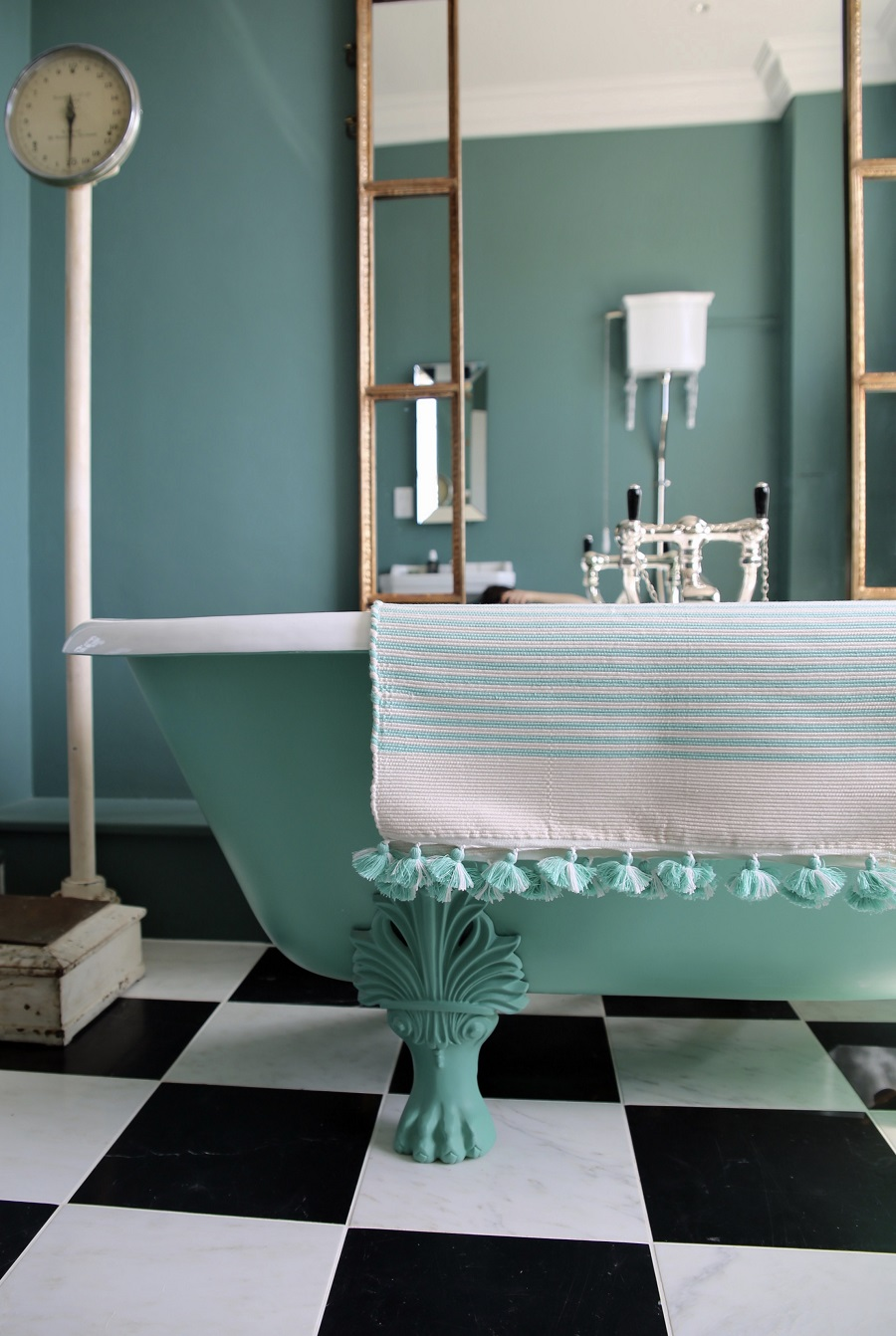 A Teal Bathroom With a Taste of the Kasbah - Get The Look