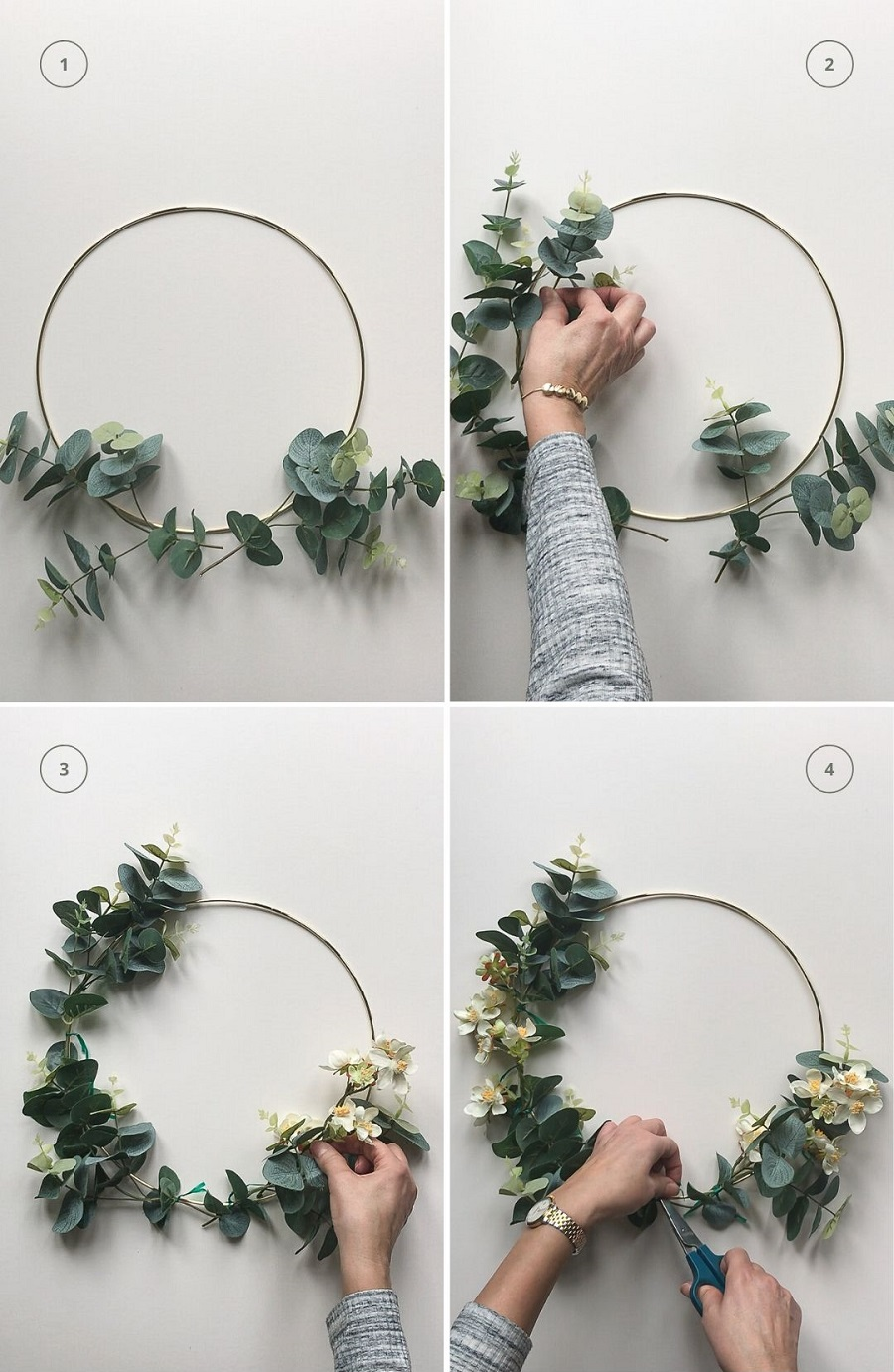 Make a Floral Wreath for Easter