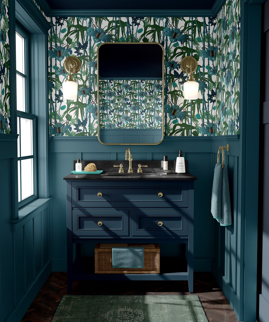 A Darkly Delicious Downstairs Loo and How To Get The Look