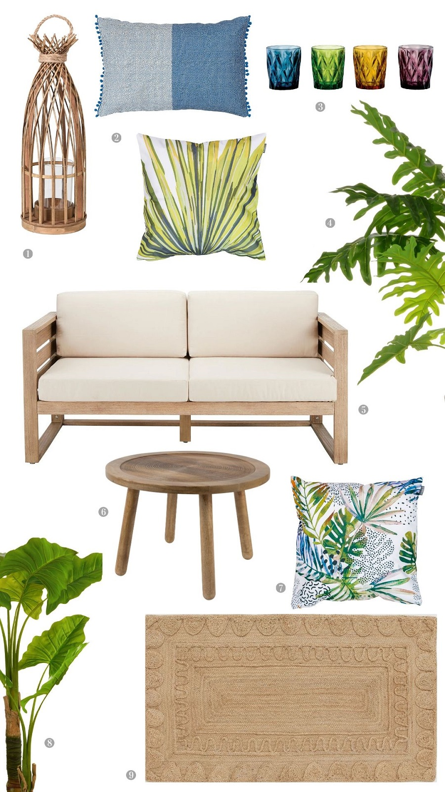 A Holiday Inspired Balcony and How to Get The Look