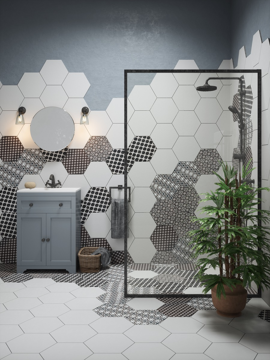 Mix But Don't Match Wall and Floor Tiles