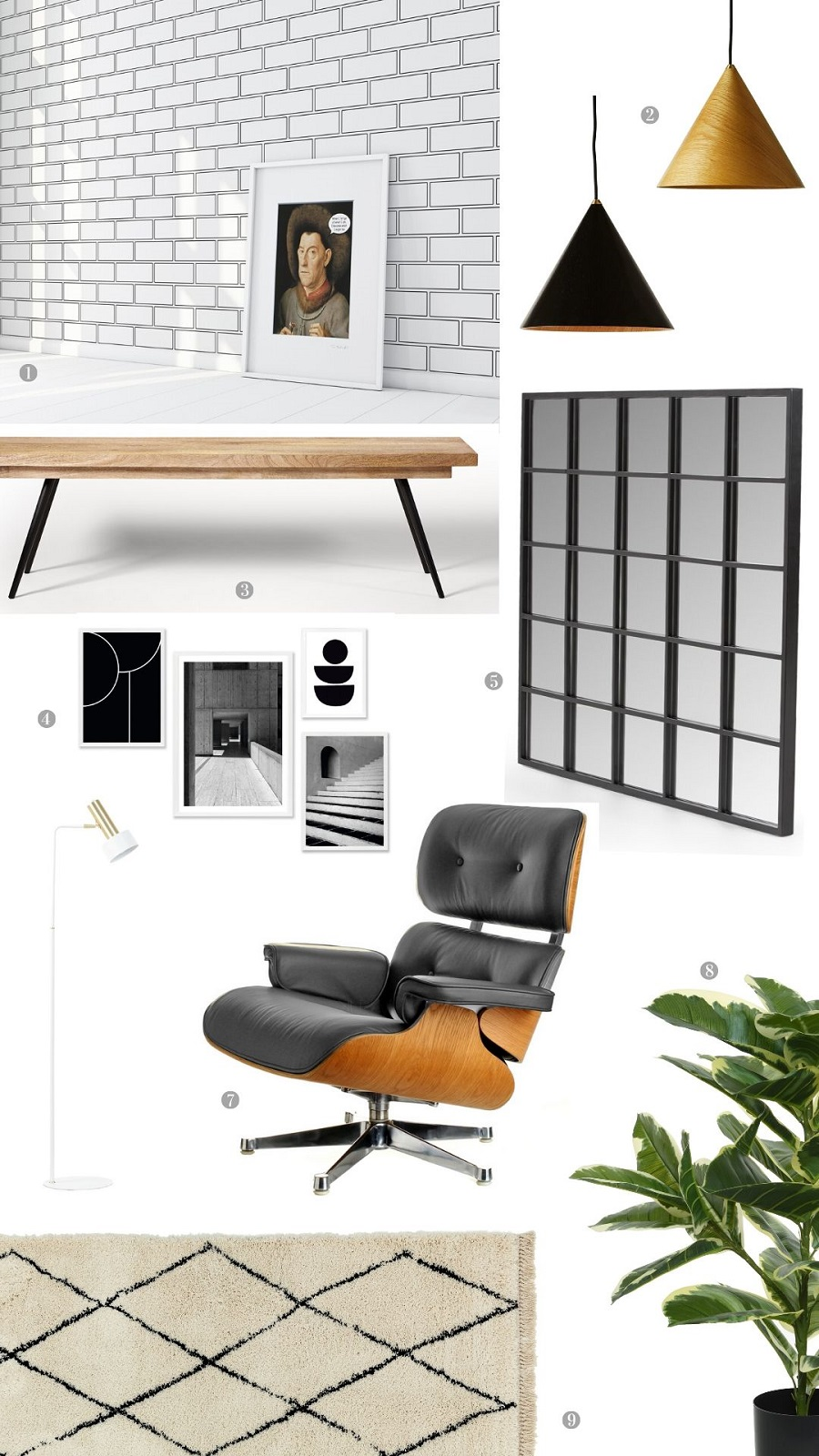 A Monochrome Modern Sitting Room and How to Get The Look