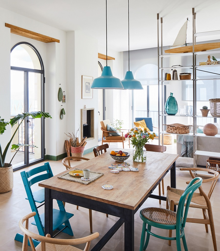 From Ruined Monastery to Bright and Colourful Family Home