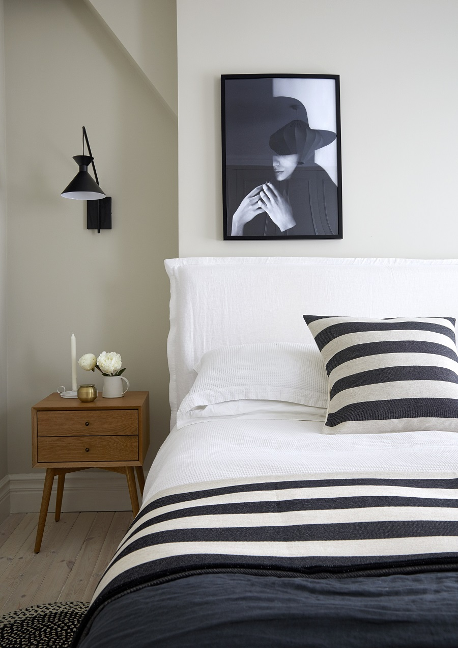 A Simple and Timeless Black and White Bedroom - Get The Look
