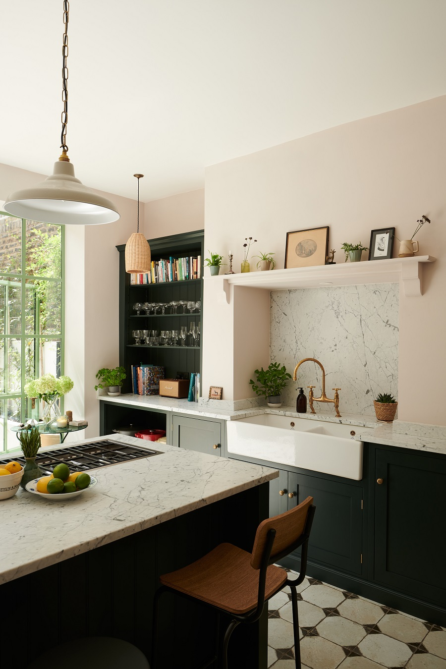 A Beautiful Basement Kitchen Full of Light and Character