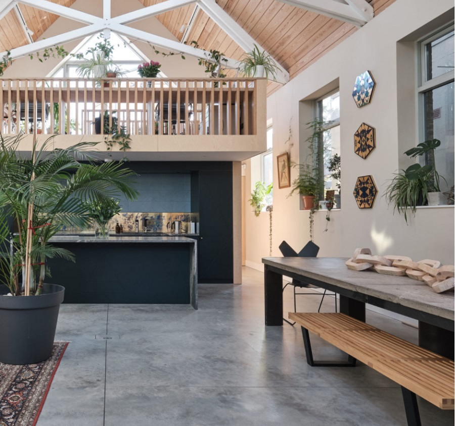An Ex-Mission Hall That is Now a Bright and Expansive Home and Workspace