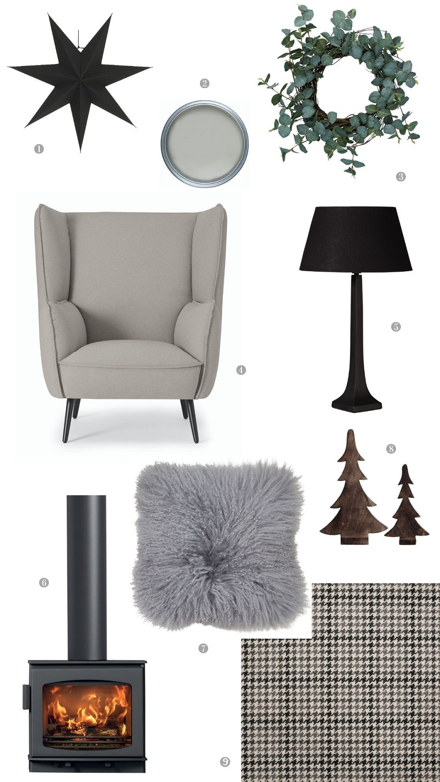 A Christmas Sitting Room Scheme for the Confirmed Minimalist (