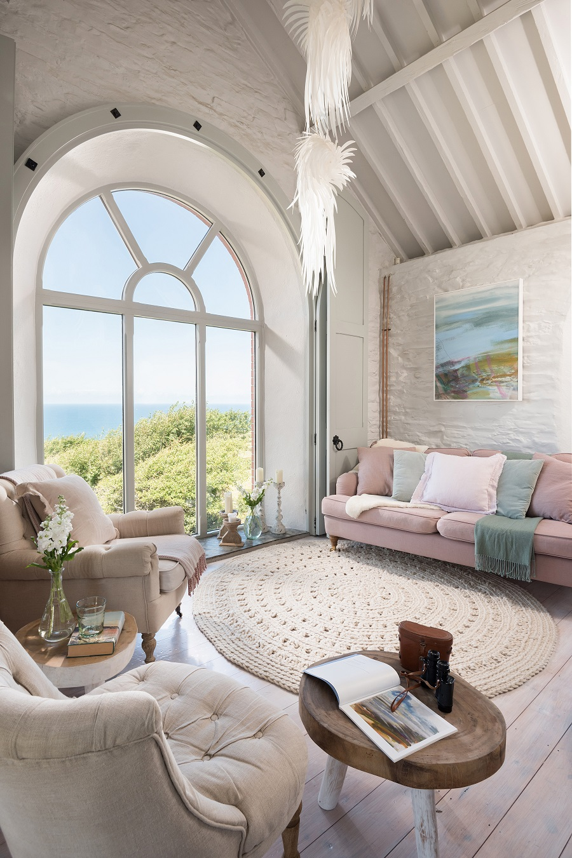 A Charming Chapel Conversion With Sea Views and Pastel Hues