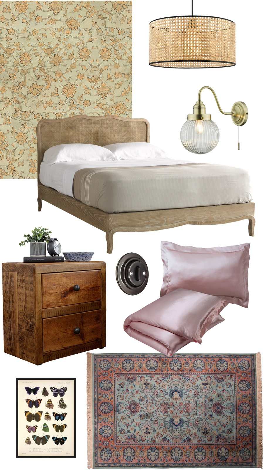 A Sweet Cottage Bedroom and How to Get The Look