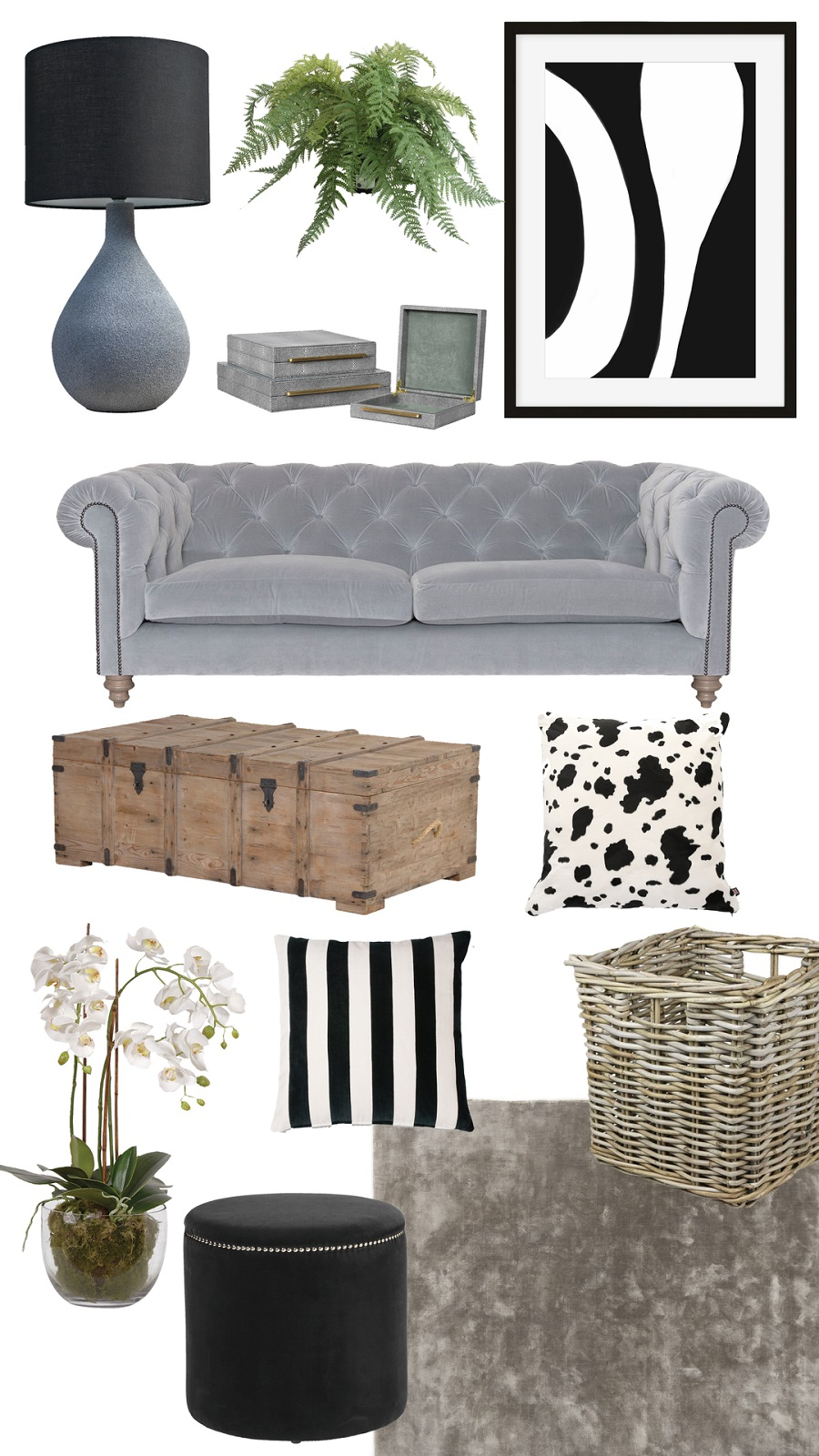 A Rustic-Luxe Sitting Room and How to Get The Look