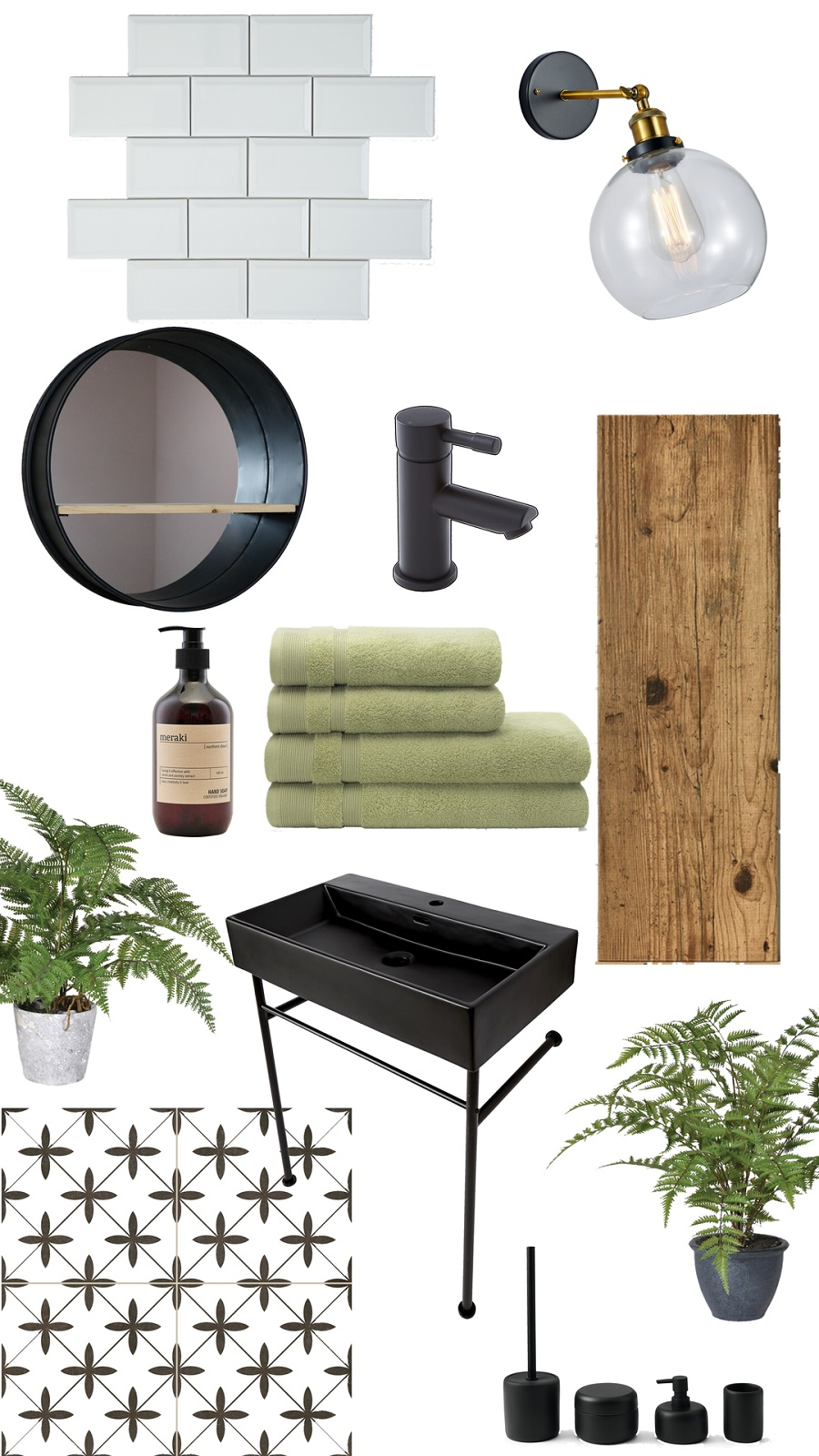 A Fresh Industrial Style Bathroom and How to Get The Look