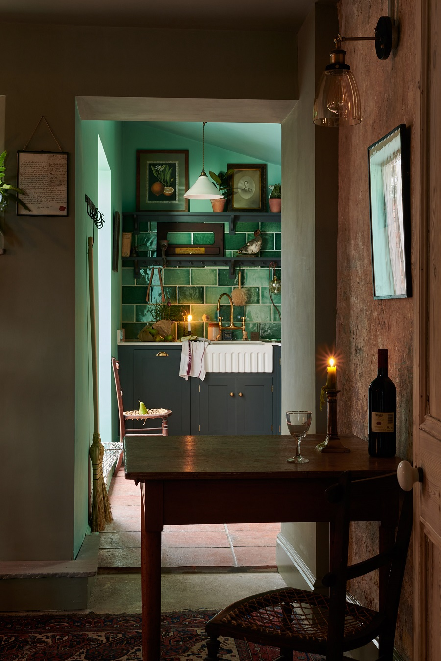 A Simple Country Kitchen in a Farmworker's Cottage