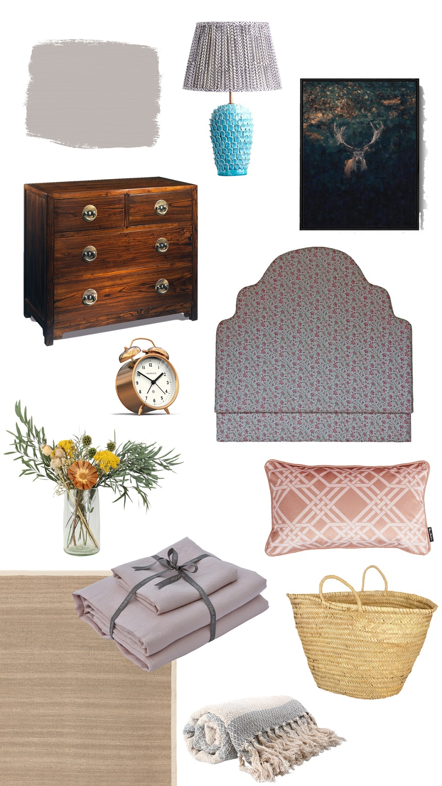 A Traditional Country House Style Bedroom and How to Get The Look