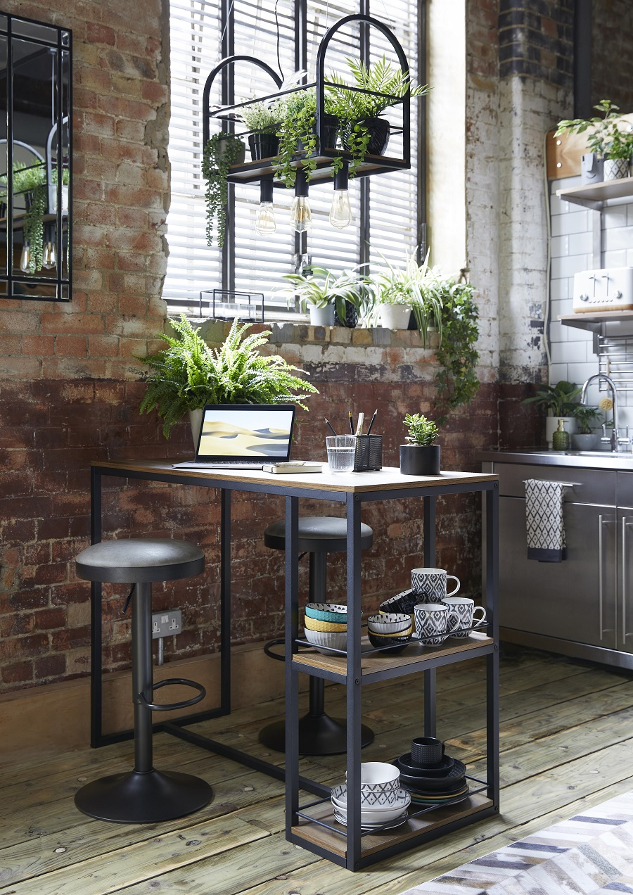 An Industrial Inspired Kitchen Workstation - Get The Look